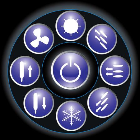 alternating: Gesti�n de la Acondicionado (bot�n azul)