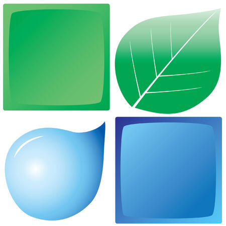 land and water Vector