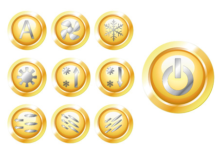 alternating current: button Illustration