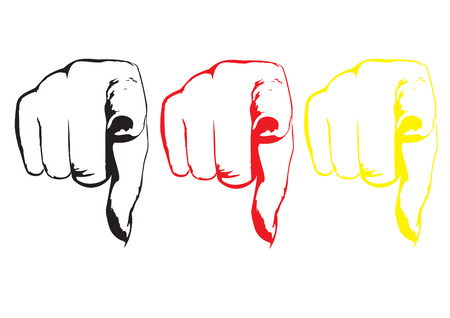 touching hands: finger Illustration