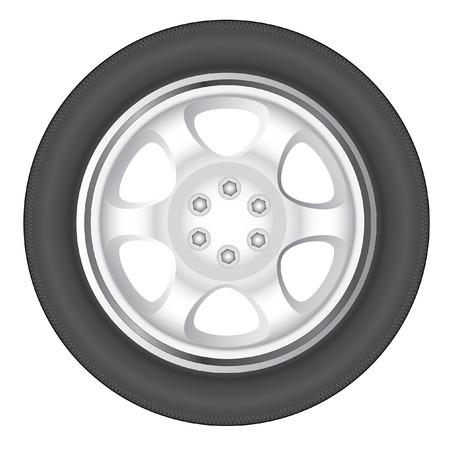 auto wielen  Vector Illustratie
