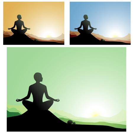 man meditating: yoga