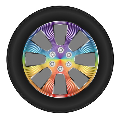 car tire: wheel color Illustration