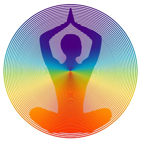 back icon: yoga disk color Illustration