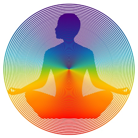 wellbeing: yoga disk color Illustration