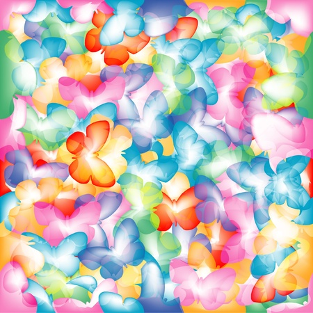 summer beauty: Colorful butterflies. Illustration