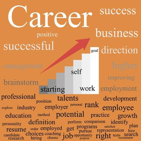 Career  Tag cloud  EPS10 Stock Vector - 13272760