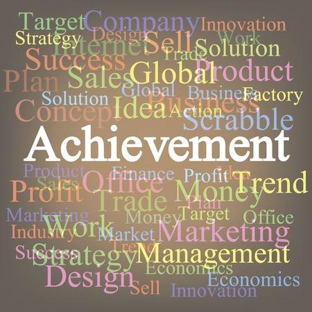 tagcloud: Achievement tagcloud Illustration