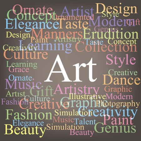 contemporary taste: Art tag-cloud Illustration