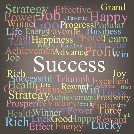 Success tag-cloud Vector
