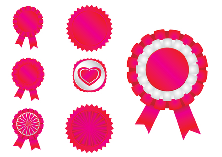 7 different ribbons in vector format
