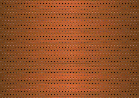 holes: Copper plate with symmetrical holes Illustration