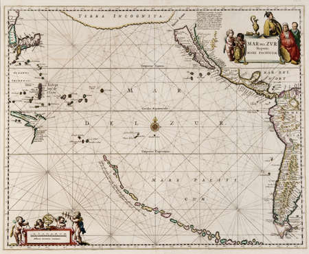 map made in 1650 by Frederick De Wit, first map of the Pacific to show California as an island Editorial