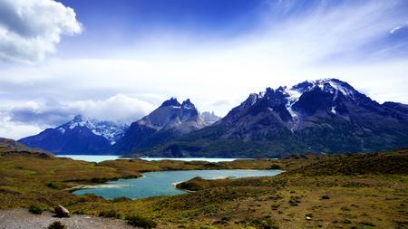 Cordillera Paine in Torres del Paine National Park, Patagonia, Chile