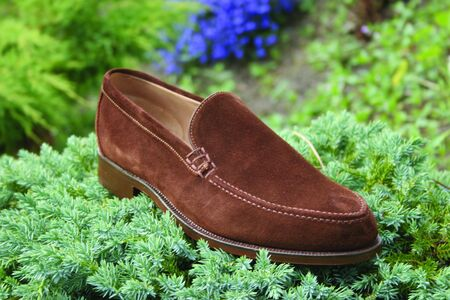 loafer: MENS SUEDE LOAFER DRESS SHOE