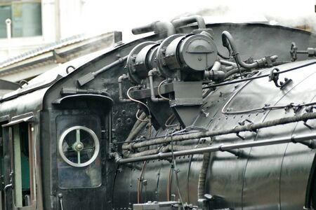 """""""Locomotiva a vapore"""", Daisen City, Prefettura di Akita Giappone"""