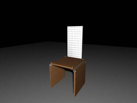 wooden &  metal chair - (for similar images see my portfolio) photo