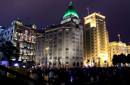 shanghai night: shanghai night scenery Editorial