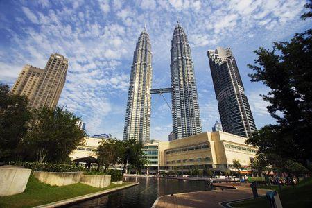 petronas: Petronas Twin Towers en Kuala Lumpur, Malasia.