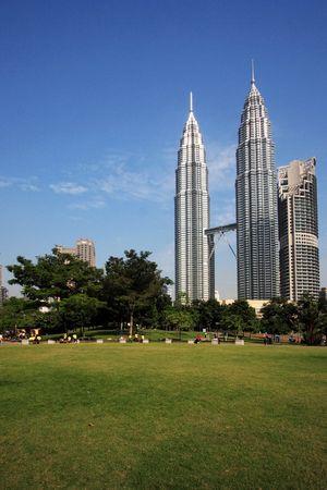 Petronas Twin Towers at Kuala Lumpur, Malaysia. Editorial