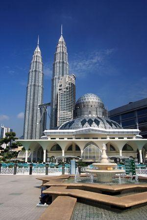 Twin Towers at Kuala Lumpur, Malaysia.