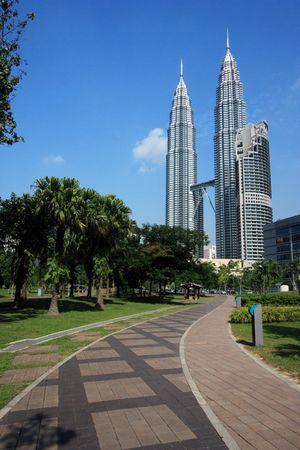 petronas: Torres gemelas de Petronas en Kuala lumpur, Malasia.