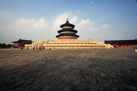 Temple of Heaven at Beijing city, China.