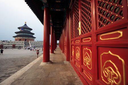 Tempel van de Hemel in Peking City, China.