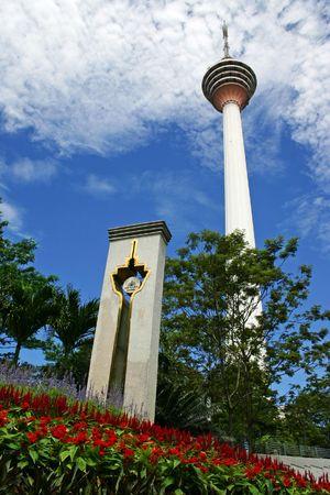 Kuala Lumpur Tower, een toren commucation in Maleisië. Redactioneel
