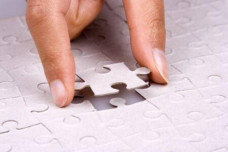 pr�voyance: Gros plan de la part de jouer puzzle.