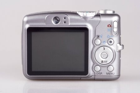 An 6x optical zoom digital camera close up. Stock Photo