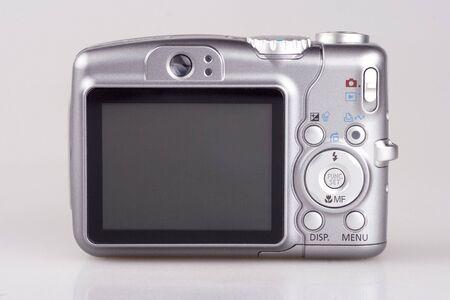 Een 6x optische zoom digitale camera close-up. Stockfoto
