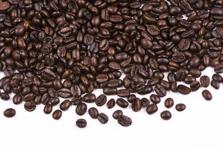Close up of coffee bean as background.