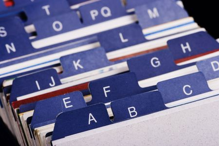Close-up van Desktop Business Card index houder.