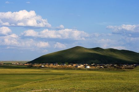 An isolated village in Inner Mongolia, summer view. Stock Photo - 2241238