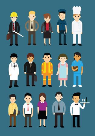 Collection of people with different professions