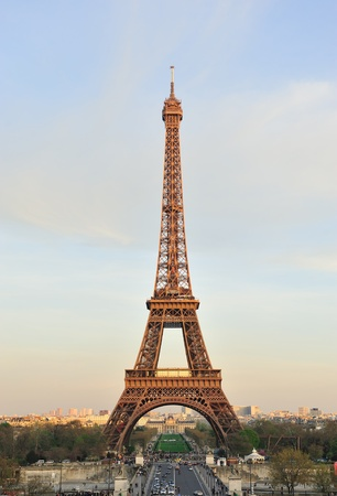 trocadero: Beautiful view of Eiffel tower, Paris, France