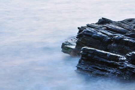 cliff edge: Sea and rock Stock Photo