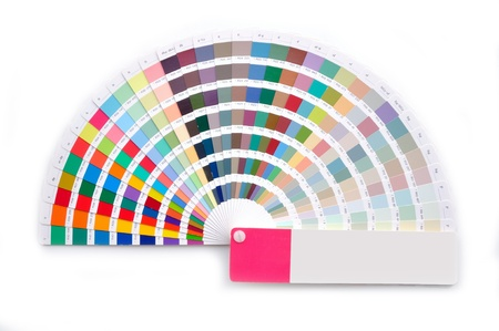 color swatch book: Color guide Stock Photo