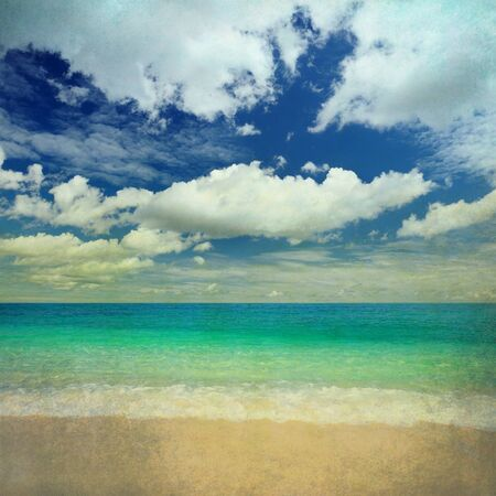 Grunge sea photo
