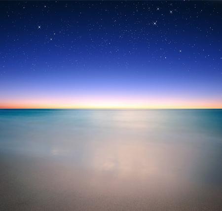 바다 위에 좋은 별