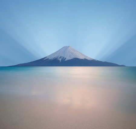Before sunrise at Mt  Fuji