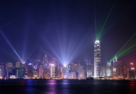 hong kong harbour: Symphony of light at hong Kong