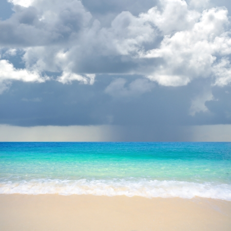 monsoon clouds:  Storm beach