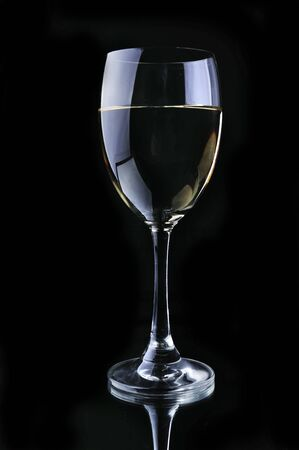intoxicating: Wine glass in black