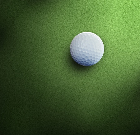 stuck up: Golf on green course