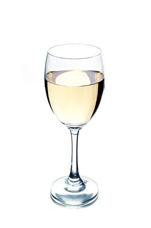 white wine: Wine glass Stock Photo