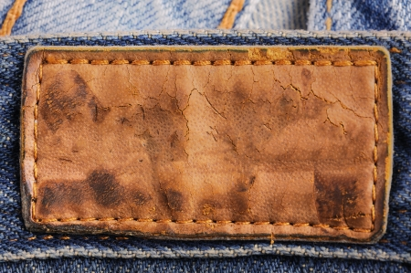 jeans fabric: Old leather jean