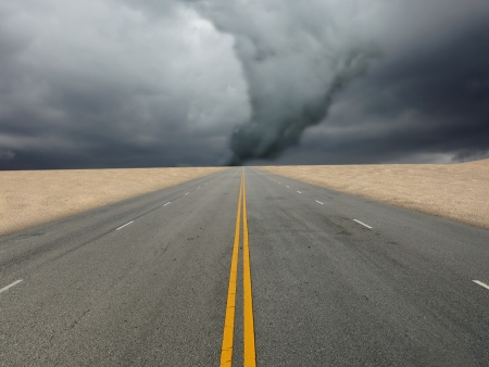 large tornado over the road photo