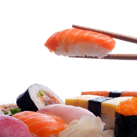 초밥 전통적인 일본 음식 스시